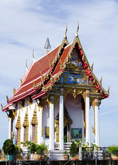 Thai Temple building for religion background