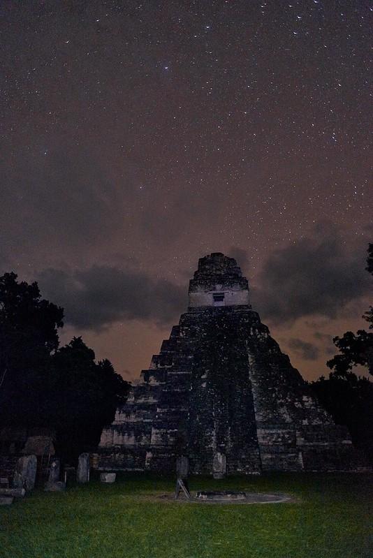Stars over Temple of the Grand Jaguar - Tikal