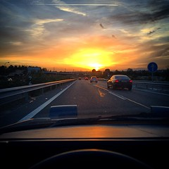 Sunset in #Madrid as seen from my #AE86