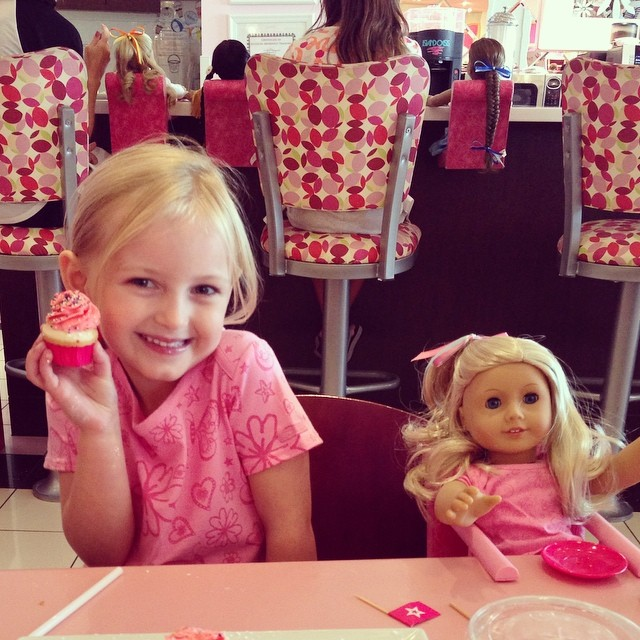 American Girl store date with this cutie to get her very own doll.