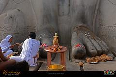 """WORSHIP AT THE FEET OF BAHUBALI """