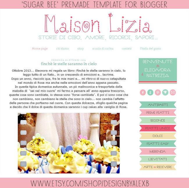 maison-lizia-sugar-bee-premade template,   https://www.etsy.com/shop/DesignbyAlexB