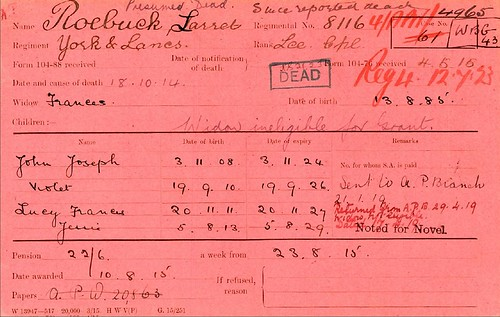 23 The Pension Record Card