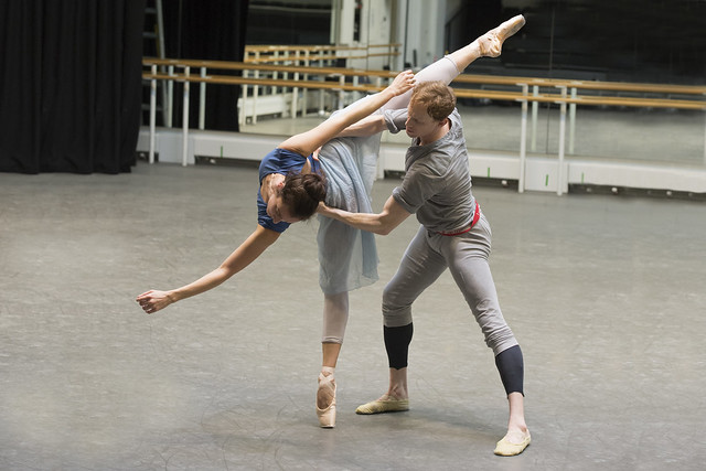 Christina Arestis and Edward Watson in rehearsal for Ceremony of Innocence, The Royal Ballet © ROH/Bill Cooper, 2014