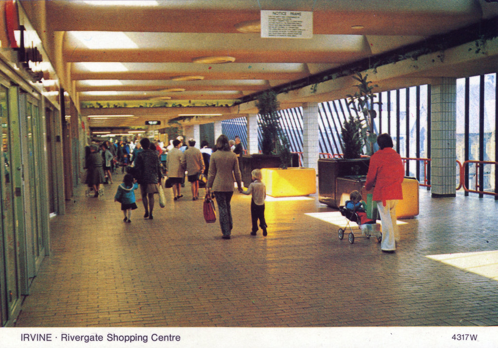 Irvine Rivergate Shopping Centre Postcard Mid To Late 197