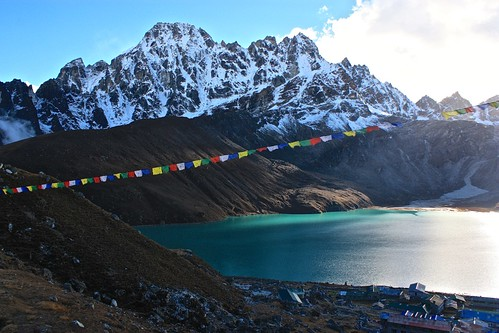 sunset over Gokyo