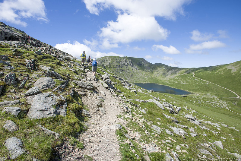 uphill climb to Striding Edge, Helvellyn