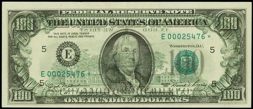 1981 $100 Federal Reserve Star Note. Richmond error