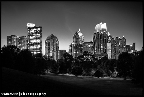 Piedmont Park and Atlanta Skyline
