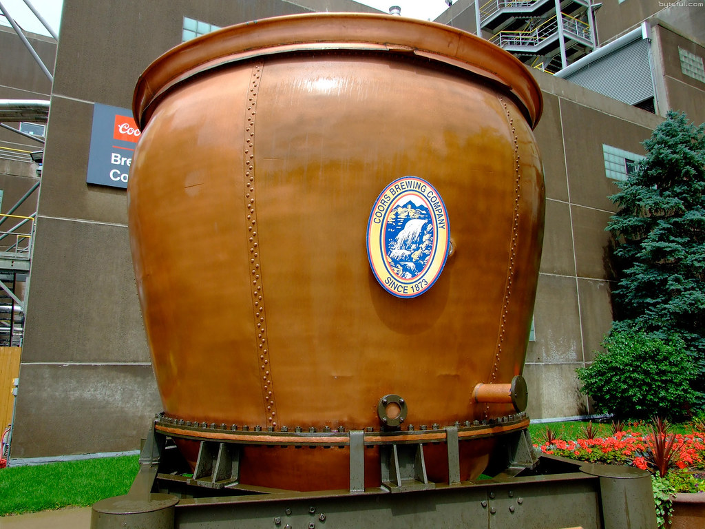 Gigantic Historic Coors Brew Kettle Outside