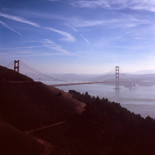 sanfrancisco california city bridge winter sky water fog architecture landscape bay foggy pacificocean goldengatebridge e6 2013 fujichromevelvia100
