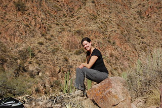 Hiking near the Rio Colorado, Cafayate, Argentina