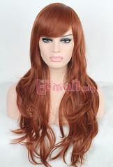 70cm long Caramel color body wavy fashion wig FL10