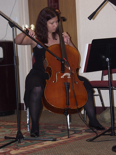 Sheila Ameri on cello