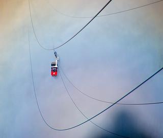 Tram into Rainbow Mist