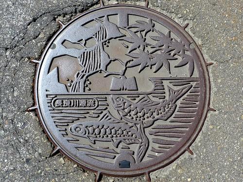 Takasu Gifu, manhole cover (岐阜県高鷲村のマンホール)
