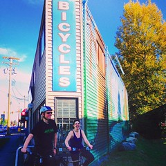 Bike shop pit stop along the way. #latergram