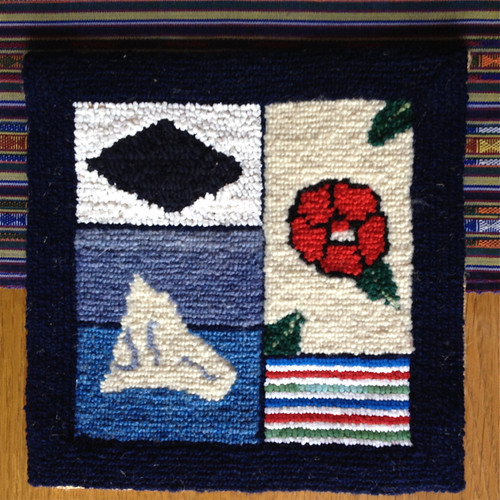 Canada St Anthony's hooked rug