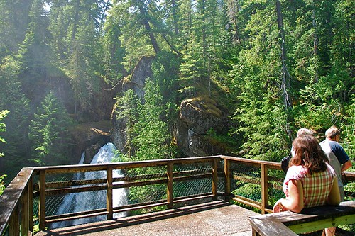Lady Falls, Strathcona Provincial Park, Vancouver Island, British Columbia, Canada