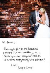 Letter of Thanks from Lisa & Chris