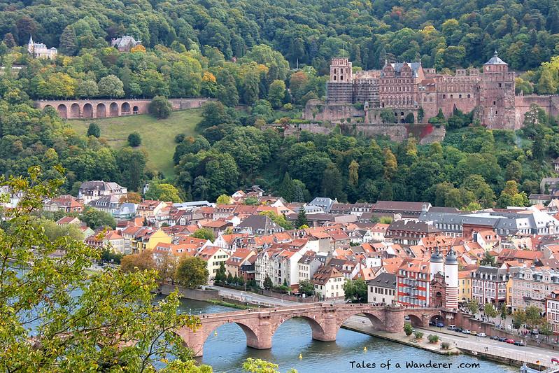 HEIDELBERG - Philosophenweg - Alte Brücke / Brückentor / Heidelberger Schloss