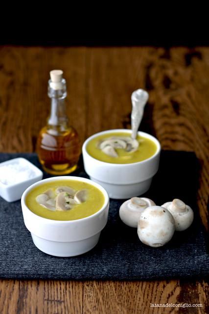 Crema di patate e funghi Bio all'aglio e curcuma2