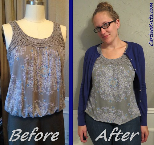 Grey Print Tank - Before & After