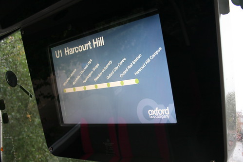 Passenger Information Display inside Oxford Bus Company 612