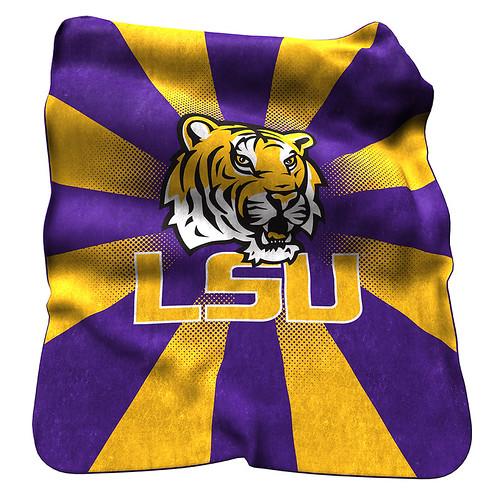 LSU Tigers NCAA Raschel Blanket