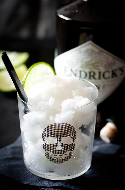 Halloween: Gin-Tonic-Sorbet mit Limette