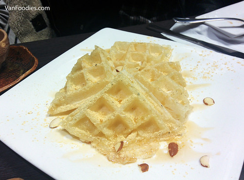 Rice Cake Waffle with Maple Syrup