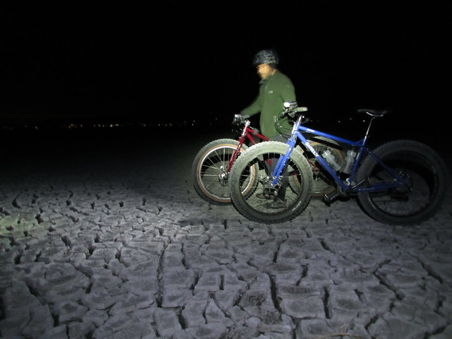 Washoe Lake nighttime Fat Bike ride