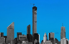 432 Park Avenue, ( under construction) Will be not only the Tallest residential building in New York City, but the whole western Hemisfere. Rising 1396 feet . #newyork #newyorkcity #nyc #skyscraper #landmark #manhattan #building #clouds #skyline