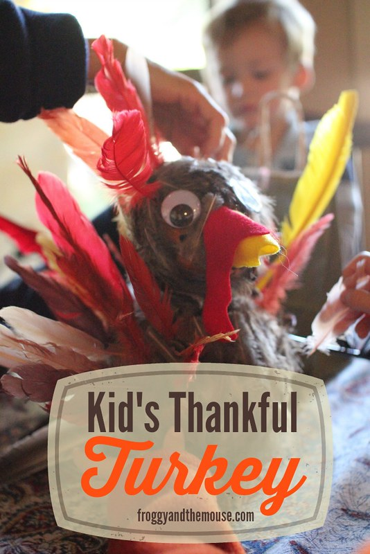 Kids Thanksgiving Thankful Turkey Craft