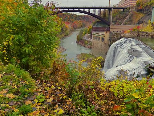 waterfall lowerfalls rochesterny geneseeriver lessjunknow