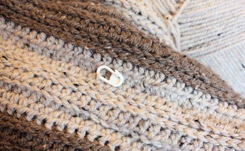 Crochet poncho WIP