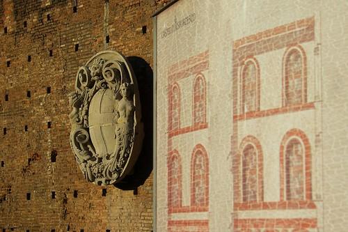 Le mura del Castello Sforzesco