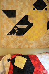 Friends! Bird quilts together.
