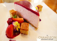 Rhubarb Cheesecake with a Sweet Beetroot Purée an…