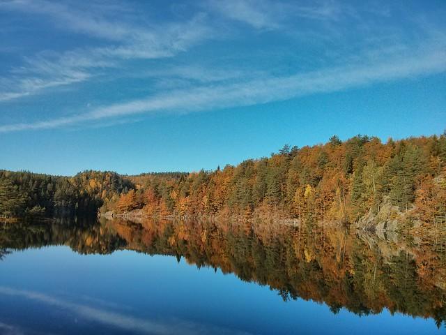 Autumn atmosphere near Kragerø, Telemark County, Norway