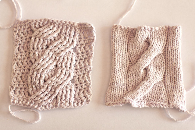 Vs Crochet What S The Difference Here Knit Vs Crochet Knit Vs Crochet ...