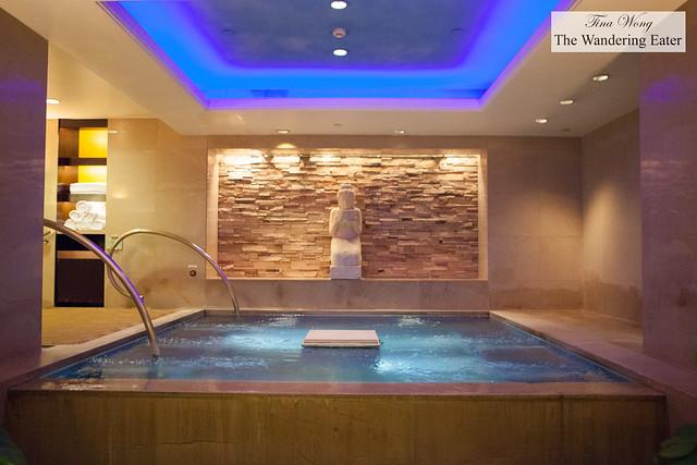 Heat pool at Grand Hyatt's Club Oasis