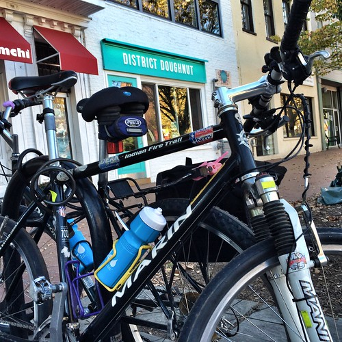 The bikes and District Doughnut