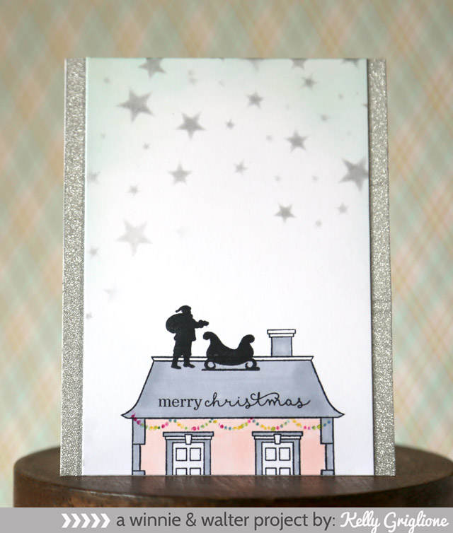 kelly_Winnie & Walter Happy Christmas This Awesome House Card_web