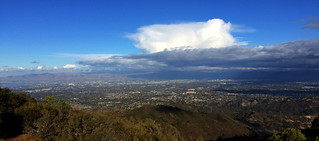 Panoramic view over Silicon Valley, California