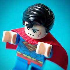 """Is it a bird? Is it a plane? It's Superman!"" #LEGO #Superman #DCComics #ManOfSteel"