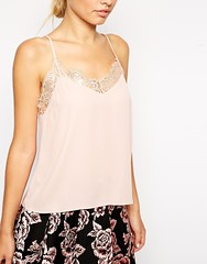 ASOS Lace Trim Cami Top Blush Tank