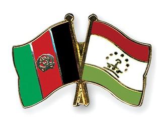 Afghanistan - Tajikistan Flags