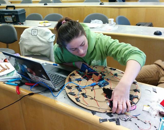LED bullseye build at hack Holyoke