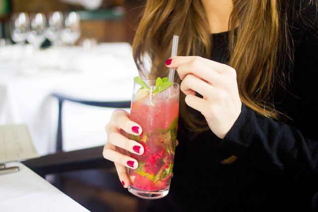 raspberry and ginger mojito in London